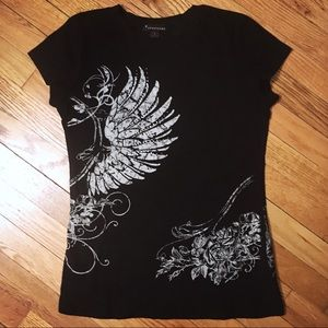 Goth-inspired graphic T-shirt